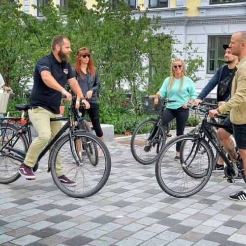 Aalborg Tours fortæller ved Gabels Torv