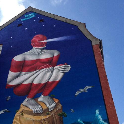 Lighthouse street art